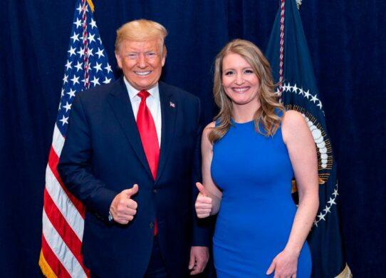 Jenna Ellis with Trump