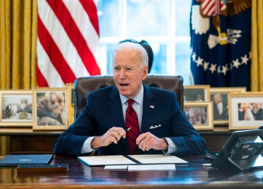 Biden Signing Executive Order 4367